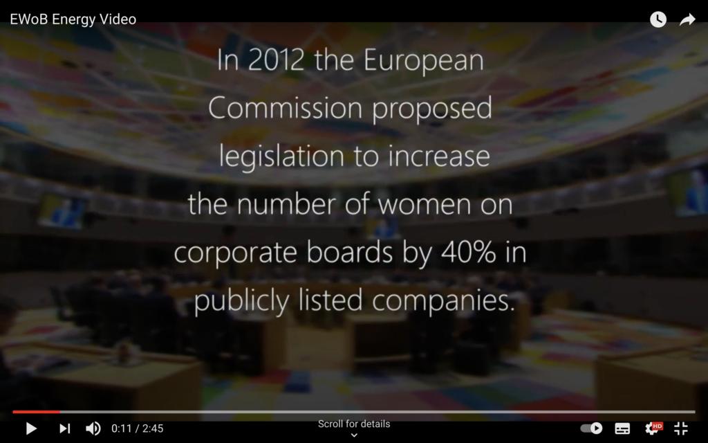 European Women on Board presentation picture